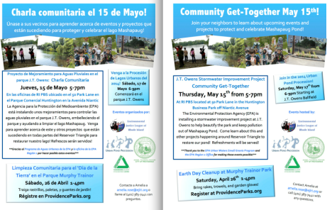 May 2014 Events for Mashapaug Pond!