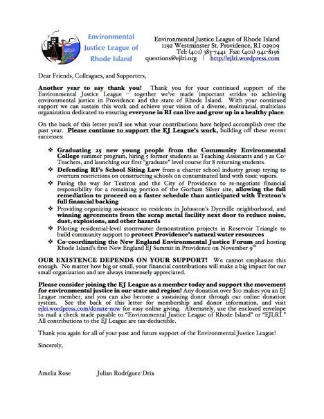 2013 Appeal Letter