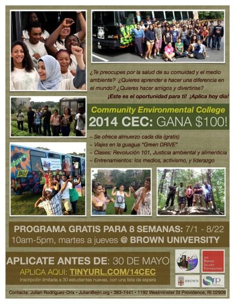 2014 CEC flyer spanish